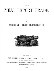Cuthbert-Fetherstonhaugh--The-Meat-Export-Trade